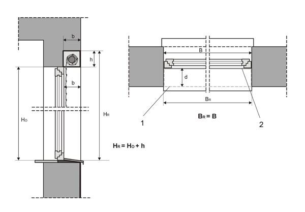 Pomiar rolet zewnętrznych rolety zewnętrzne pomiar, rolety
